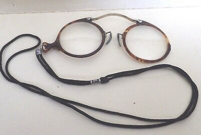 Antique Pince-Nez Spectacles tortise shell