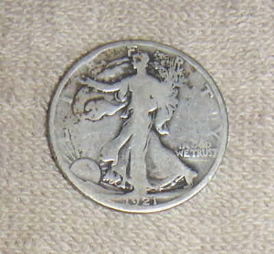 Rare Key Date Low Mintage United States 1921-D Walking Liberty Half Dollar Coin