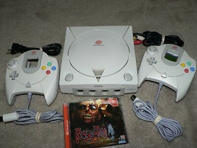 Sega Dreamcast video game system console bundle House of the Dead 2 FUN!!!