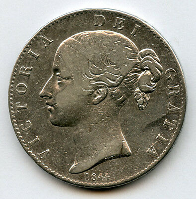 GREAT BRITAIN 1844 Qn.VICTORIA YOUNG HEAD CROWN,SCARCE LOW MINTAGE VF.