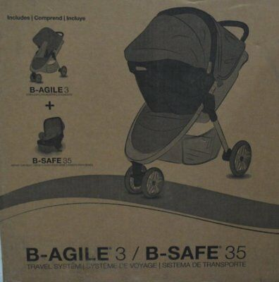 Britax 2017 B-Agile 3 / B-Safe 35 Travel System Steel S08365700