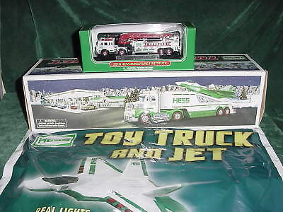 Christmas Xmas Holiday Two 2010 Trucks Toys Truck & Jet And Mini Firetruck  Mib