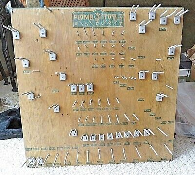 Rare Vintage Art Deco Plomb Tools Retail Tool Display Rack 52-B