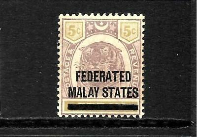 FEDERATED MALAY STATES  1900  5c  TIGER   MLH   SG 4
