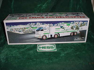Christmas  Holiday Gift 2006 Hess Toy Truck And Helicopter Truck Toys Truck Mib