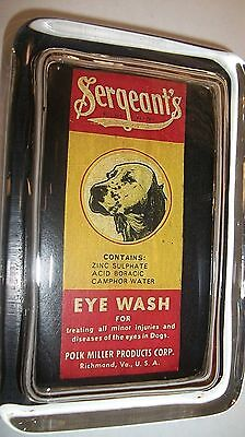 Veterinary Vet  Dog Eye Wash Medicine Canine  Advertising Sign Glass Paperweight