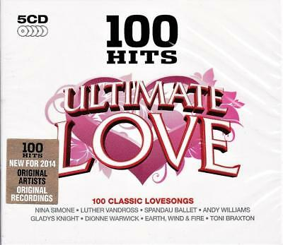 100 Hits Ultimate Love - Original Recordings - Various Artists (New Sealed 5Cd )