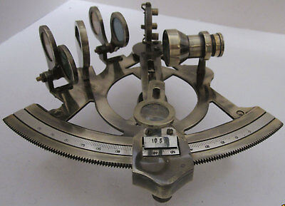 Sextant 5in Brass Rack Pinon Functional 4 Filters Wood Handle
