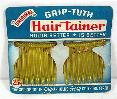 Old Grip Tuth Hair Tainer Diadem Inc Leominster Mass Old Unsold Store Stock #1