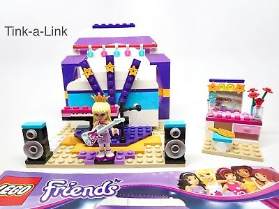 NIB LEGO 41004 Friends Rehearsal Stage Set Stephanie Popstar Rock ...