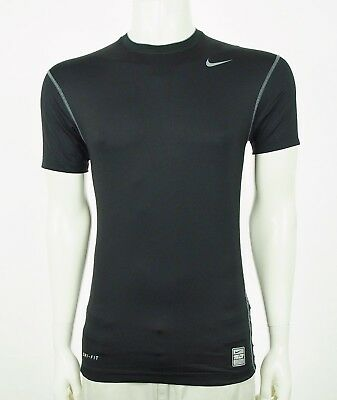 Nike Pro Combat Dri-Fit Compression Black Athletic Tech Shirt Sz Large