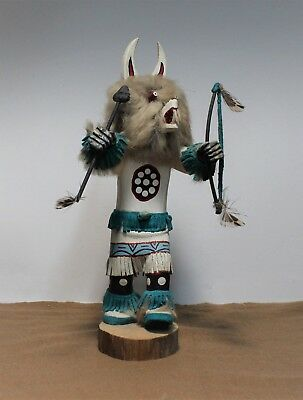 Navajo Wolf Kachina Doll Signed R Willie