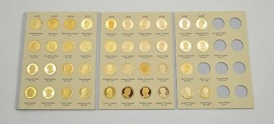 Presidential Gold Dollar 2007-2016 - US Coin Collection Complete Set - Nice *038