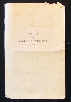 Orig 1904 HOUSE OF LORDS U.K. Parliament NOTICES AND ORDERS OF THE DAY