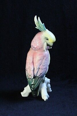 Antique Karl Ens German Porcelain Cockatoo Bird Statue