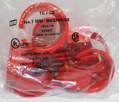 Lot of 40 Milne No.7  Plastic Cable Bushings