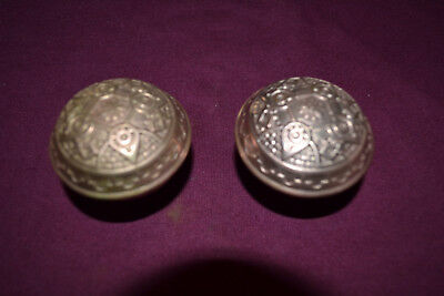 Antique Vintage East Lake  One Set Of Brass Door Knobs