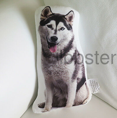 MALAMUTE HUSKY DOG PILLOW Photograph on fabric 14 inch with zipper cover