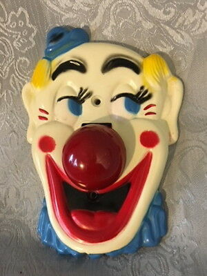 FLICKO CLOWN LIGHT SWITCH PLATE COVER VINTAGE 1950s FALCON PLASTICS MIDCENTURY