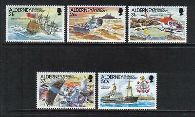 Alderney 1991 Casquets Lighthouse--Attractive Architecture Topical (60-64) MNH