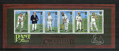 Alderney 1997 Cricket Club 150th Anniv ss--Attractive Sports Topical (105a) MNH