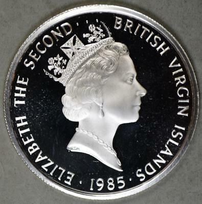 British Virgin Islands 1985 20 Dollars Proof Silver Coin