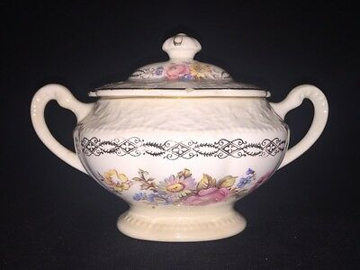 Edwin M. Knowles China Co-Semi Vitreous 43-3 Sugar Bowl With Lid-Made In U.s.a.