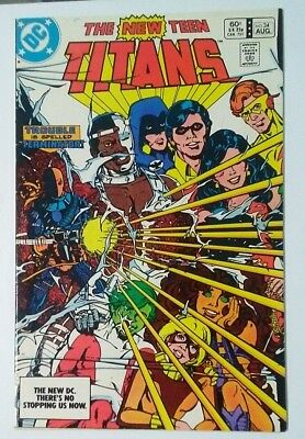 NEW TEEN TITANS #34 3rd DEATHSTROKE VF-