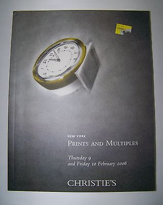 CHRISTIE'S New York Catalog PRINTS AND MULTIPLES catalog 9 & 10 February 2006