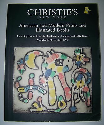 CHRISTIE'S NY Catalog American & Modern Prints & Illustrated Books 3November1997