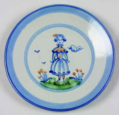 M A Hadley COUNTRY SCENE BLUE Wife Salad Dessert Plate 5757647