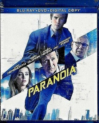 Paranoia Blu-ray + DVD 2013 2-Disc Set SEALED BRAND NEW FREE SHIPPING TRACK US
