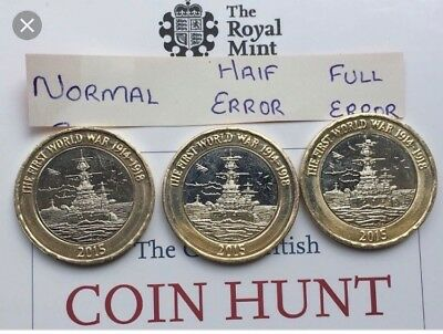 Rare HMS Belfast £2 Coin Only 650 000 Circulated Writing Correct Two Pounds