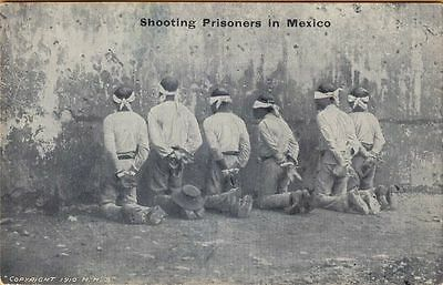 SHOOTING PRISONERS in MEXICO ~ c1916 ~ These are PROBABLY PONCHO VILLA's MEN