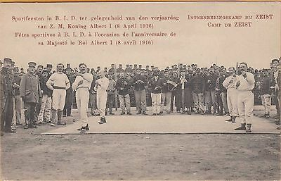 Wwi Pow Postcard ~ August 1918 ~ Boxing Matches In Pow Camp, Zeist, Netherlands
