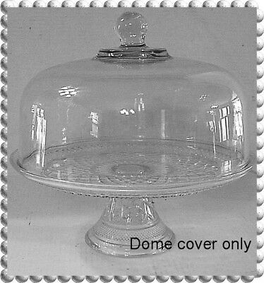 """Wexford~ Crystal Dome Cover for Cake Plate or 14"""" Tray"""