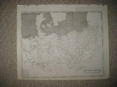 Mint Antique 1805 Prussian States Prussia Germany Copperplate Map Baltic Sea Nr