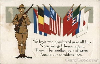 WWI Soldiers... Postcard