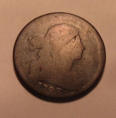 1798 Draped Bust Large Cent Penny - Circulated Condition - 64SU