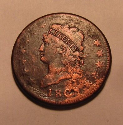 1808 Classic Head Large Cent Penny - Circulated Condition - 69SU