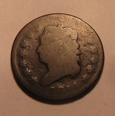 1814 Classic Head Large Cent Penny - Circulated Condition - 75SU