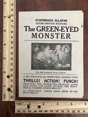 Program The Green-Eyed Monster Black African American Motion Picture~113955