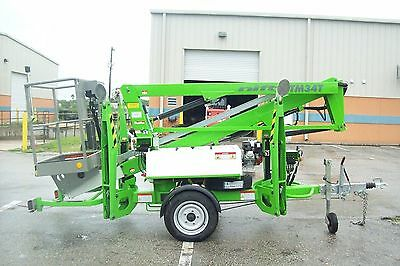 Nifty TM34T 40' Boom Lift, Hydraulic Outriggers, 20' Outreach, Dual Power