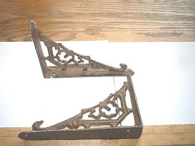 2  New Cast Iron Hanger Shelf & Window  & Porch Bracket Brace With Hook