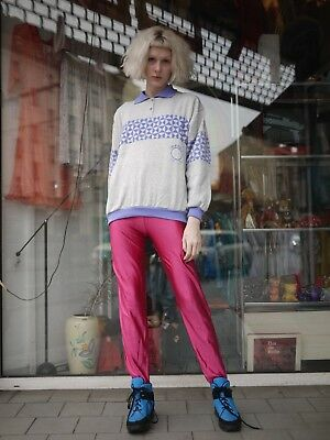 Steghose hose high waist Pink Leggings Stegleggings 80er TRUE VINTAGE 80s
