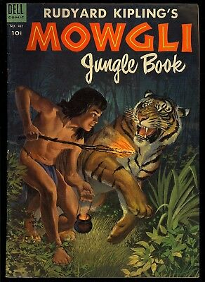 Four Color #487 (Mowgli Jungle Book) Nice Golden Age Dell Comic 1953 VG+