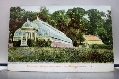 New York NY Poughkeepsie Hudson River State Hospital Greenhouse Postcard Old PC