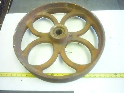Old Antique 56 # Cast Iron Industrial Cart Wheel Lot B