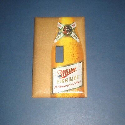 Classic Vintage Miller High Life Beer Light Switch Cover Plate A