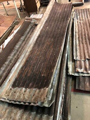 25 Reclaimed Rusty Large Corrugated Metal Roof Panels 500 Square Feet
